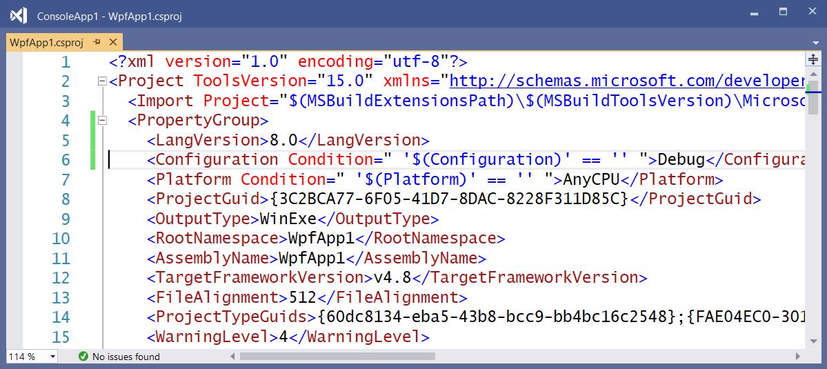 .NET Framework project file