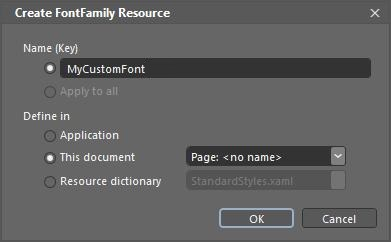 Create FontFamily Resource
