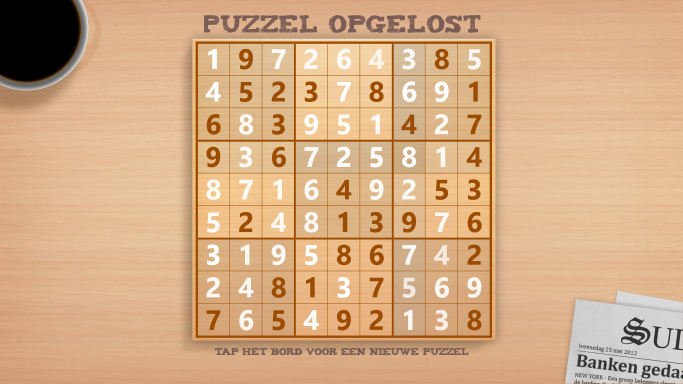 Puzzle opgelost