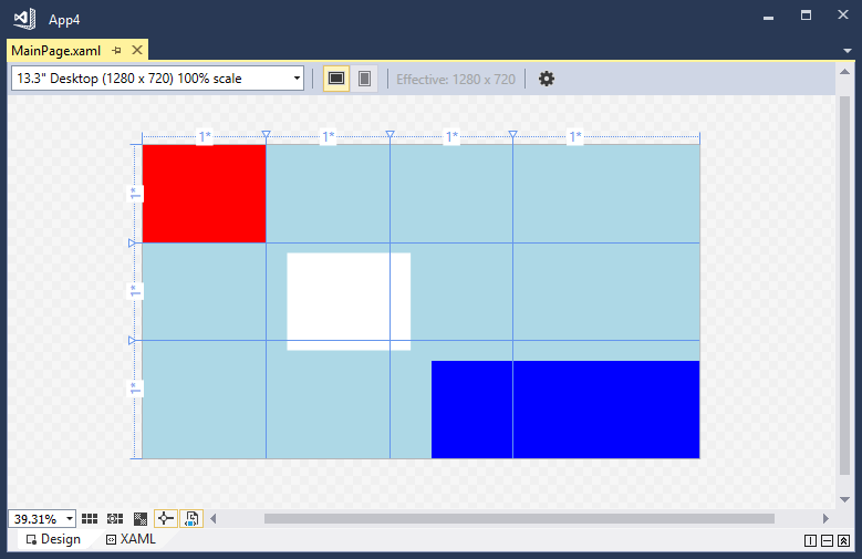 XAML Designer screenshot