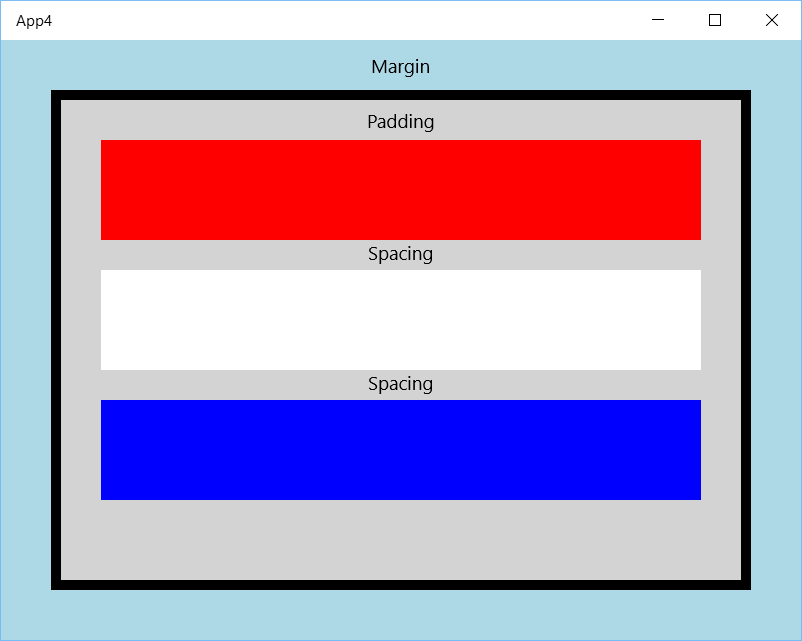 XAML StackPanel Spacing example